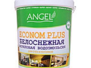 Водоэмульсия ANGEL ECONOM PLUS  (для стен и потолков протирающаяся)